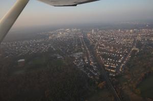 1.300 Fuss Höhe mit Blick auf Langen und Egelsbach