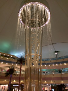 Keine Mall ohne Wasserfall