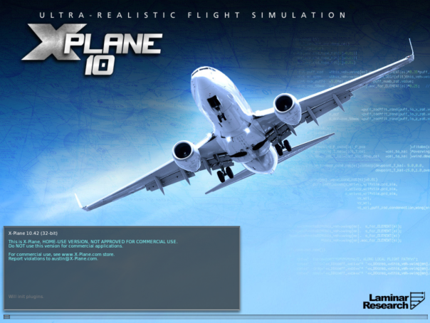 XPlane-Splash-Screen