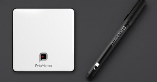 Neben der App ein Stift und ein NFC-programmierbares LED-System / Quelle: priomemo.com