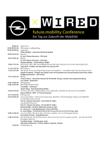 WIRED x OPEL future.mobility conference - die Agenda
