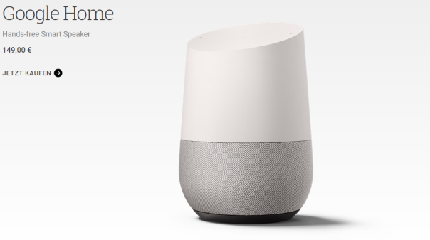 Google Home - endlich verfügbar! Quelle: store.google.com