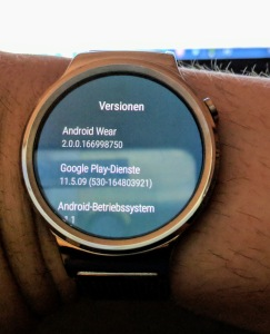 Huawei Watch und Android 2... na ja...