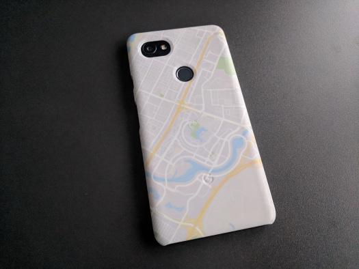 Das Google Pixel 2 in seiner Google Pixel Maps Schutzhülle... na, wo bin ich?