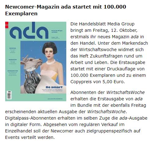 ada verteilte sich dann auf Events zu sehr, keine Hefte für (Probe-)Abonnenten / Quelle: http://www.dnv-online.net/medien/detail.php?nr=130249&Medien