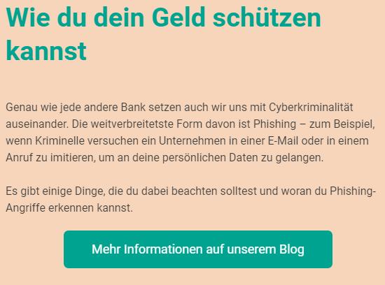 Phishing scheint es nicht zu treffen, N26 - kümmere Dich endlich um Sicherheit und ein Notfall-Telefon! / Bildquelle: N26-Newsletter