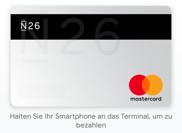 Kreditkarte in Google Pay - bereit zur kontaktlosen Zahlung / Bild-Quelle: Google Pay App