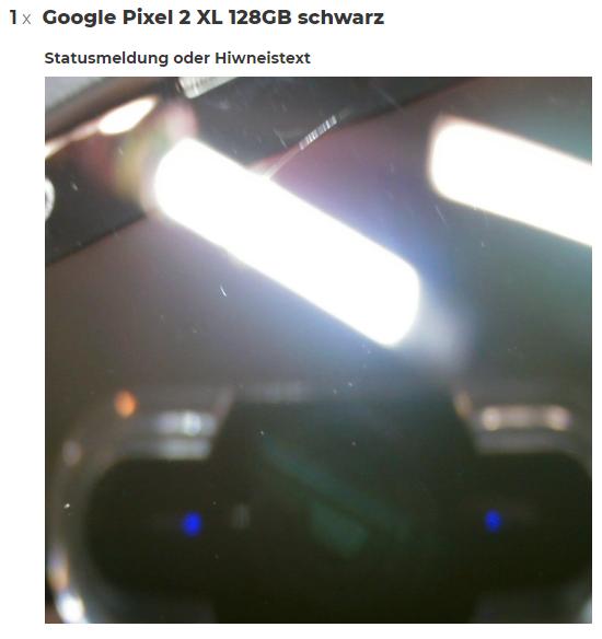 Detailbild der sichtbaren Schäden - viel Staub, viel Licht und ein... Haar?!? / Quelle: zoxs.de