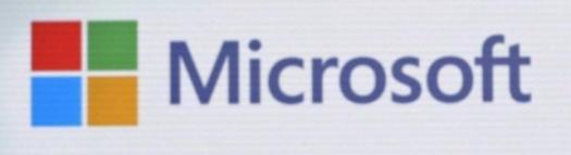Microsoft - Logo auf Bildschirm bei Microsoft München - Bild-Quelle: privat