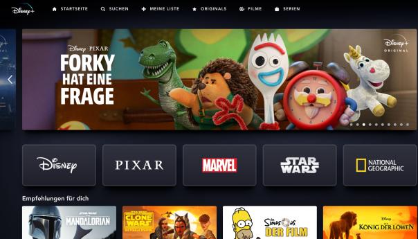 Netflix trifft amazon für ein Redesign? Nein - das ist Disney+! / Bild-Quelle: disneyplus.com
