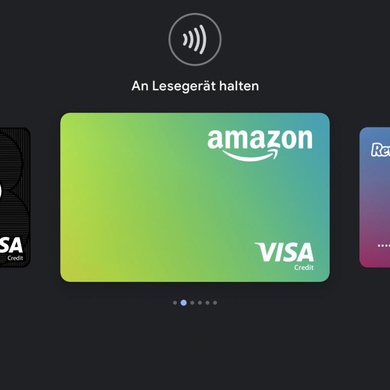 amazon Visa Lesegerät halten Google Pay / Bild-Quelle: Google Pay