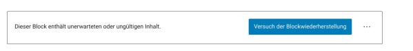 Danke WordPress: eine der geilsten Fehlermeldungen seit Windows Vista - und der Support konnte nicht helfen!