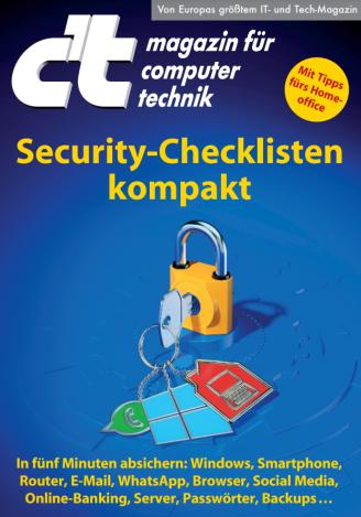 c't Security Checklisten kompakt 2020 /Bild-/Quelle: heise-Verlag