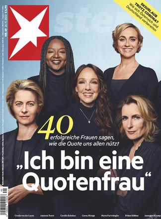 stern Titel Quotenfrau (Ausgabe aus November 2020) / Bild-Quelle: stern.de, Gruner+Jahr Verlag